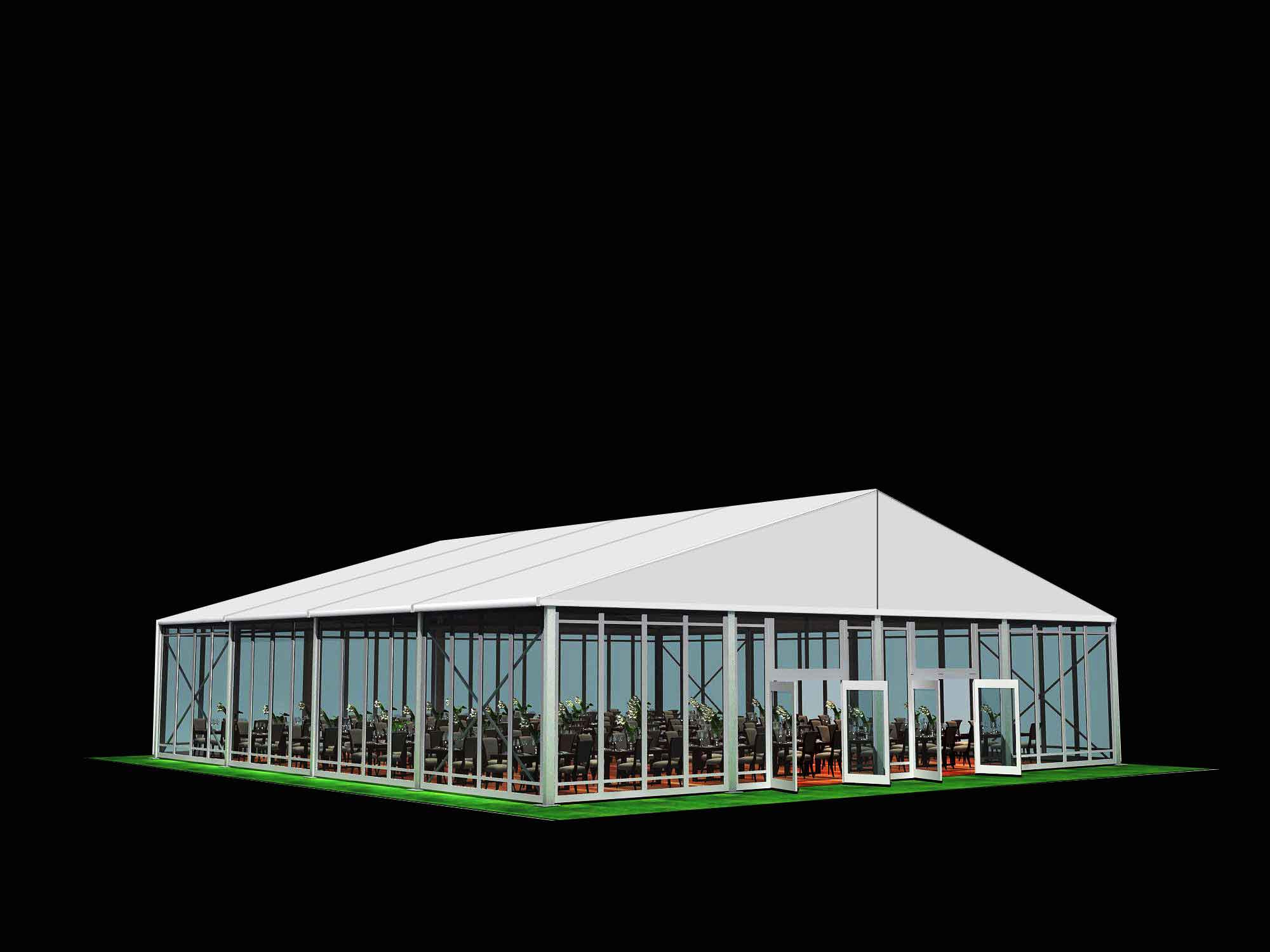 Commercial Event Tent Used In Outdoor Campaign And