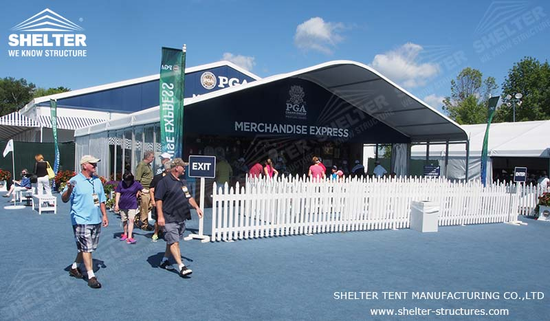 Lounge Tents In Pga Tour Arch Roof Tent Shelter Structures