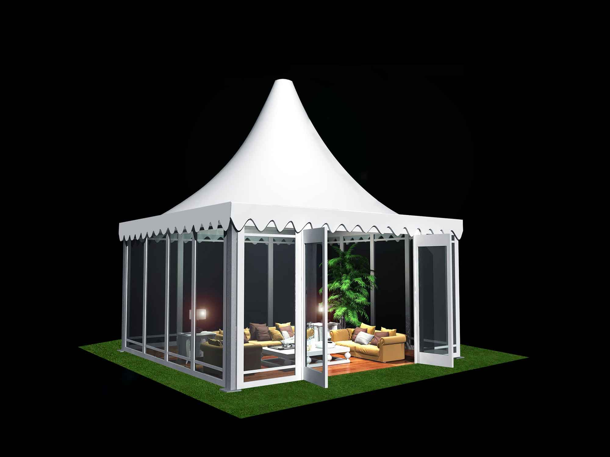 Small Fabric Shelter : Pagoda tent small for sale shelter structures