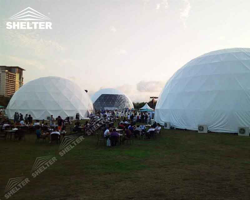 Geodesic Dome Shelter Structures