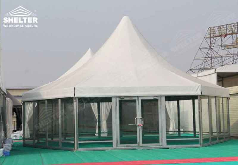 polygonal tents - high peak roof tents - event marquee - shelter tent - 1