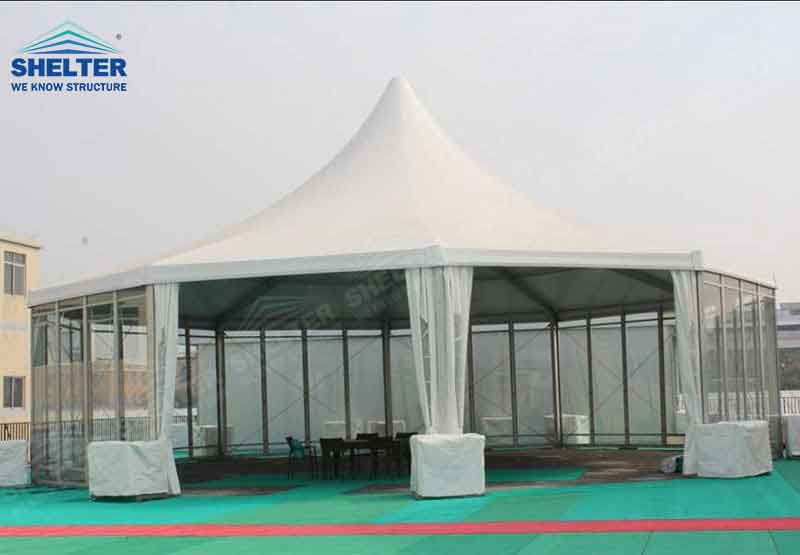 polygonal tents - high peak roof tents - event marquee - shelter tent - 3