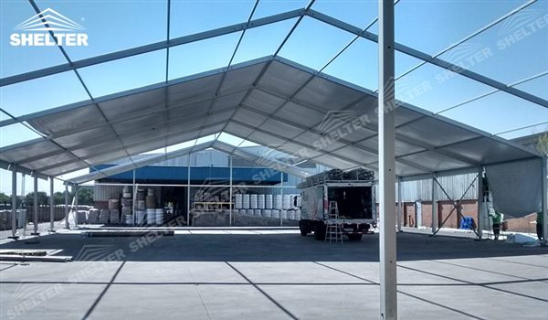 Temporary Industrial Shelters : Warehouse tent storage shelter structures