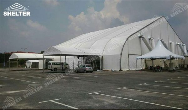 25 215 35m Curved Tent Event Marquee Shelter Structures