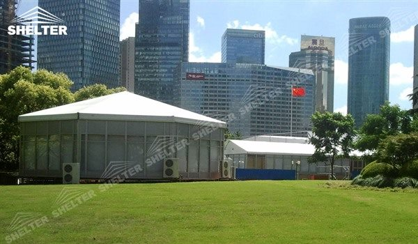 Covered Shelter Polygon : Polygon tent marquee with sides shelter structures