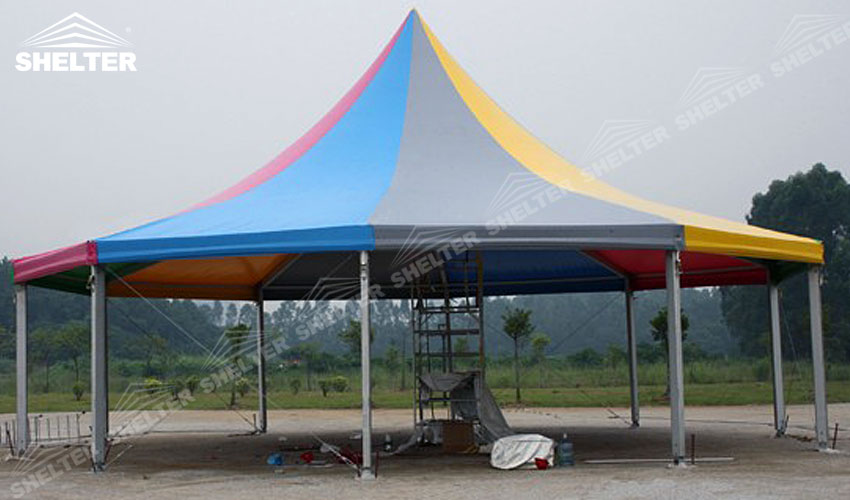 polygon tent - polygonal tent - marquee with sides - shelter tent - 4