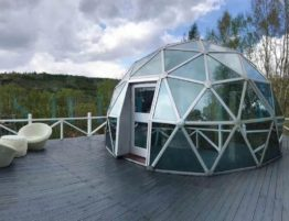Shelter Glass Dome House in Extreme Area - Eco Dome in Campsite, Resort, Mountain Area