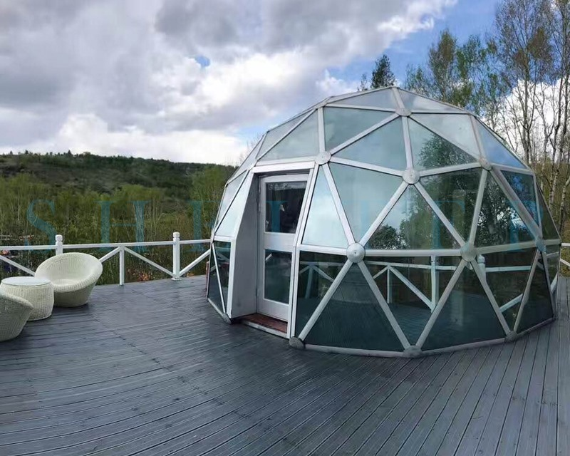 Car Fiberglass Dome Shelter : Glass dome camping domes glamping geodome shelter