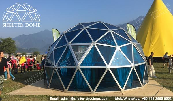 6m Geodesic Dome Greenhouse - Glass Domes | Shelter Structures & Dia. 6m Geodesic Dome Greenhouse - Glass Domes | Shelter Structures