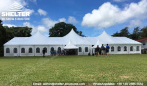 SHELTER Multi-peak Tent for Wedding - 25 x 50m Wedding Marquee - Mixed Party Tent for Sale in Philippines -7