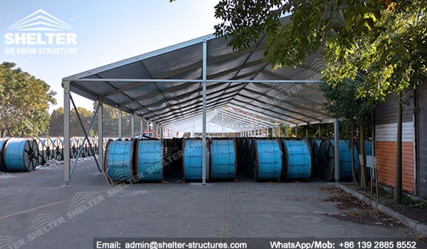 Large storage tent shelter temporary structures for Outdoor storage shelter