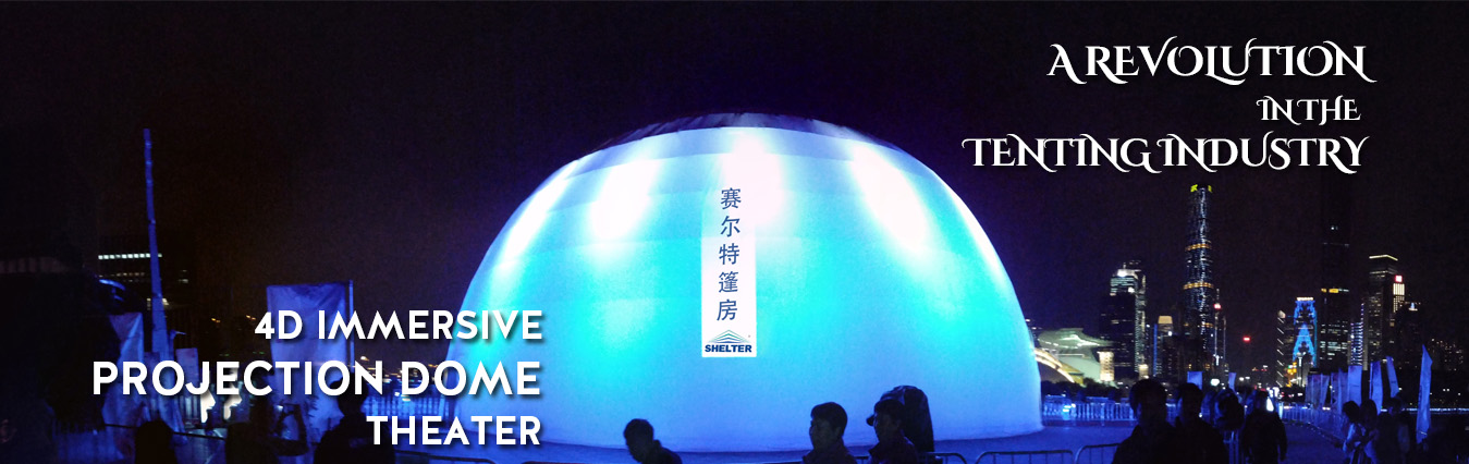 Shelter projection dome - geodesic 4d immersive theater - geodome cinema supplier