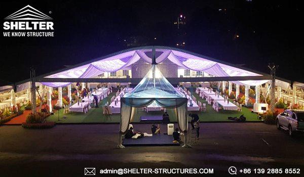 Shelter Set Up Aluminum Tent For Royal Wedding Shelter