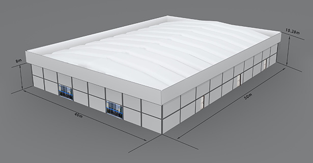 Shelter Car Show Tent - Thermo Roof Tent 40×50m