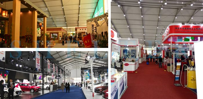 Shelter Trade Show Tents Supplier - Expo Tent for Sale - Exhibition Hall Lay out
