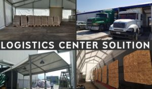Temporary building for logistics warehousing industry