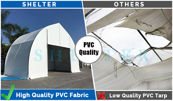 clear span tent - PVC-quality