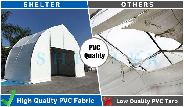 clear span tent - PVC-quality
