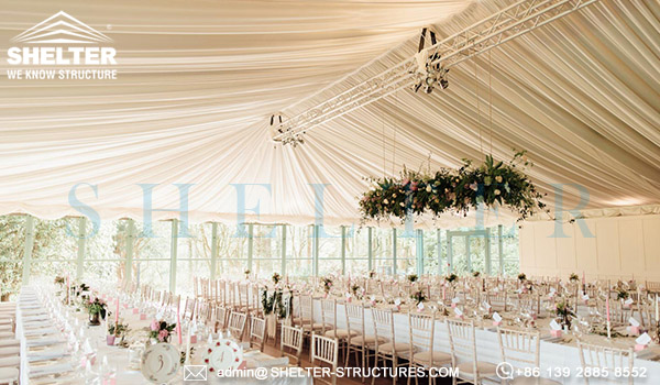 Shelter Custom Tent Design for Wedding - Luxury Marriage Banquet Hall - Multi-application Fabricated Structure From Shelter -20