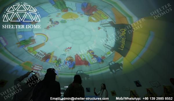 10m Diameter Sphere Projection Geodesic Dome with Printing - Custom Dome Tent for Sale - Event Geodesic Dome with Custom Graphics - Shelter Dome (2)