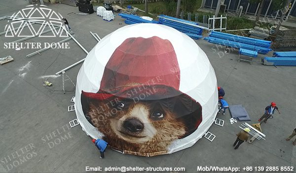 10m Diameter Sphere Projection Geodesic Dome with Printing - Custom Dome Tent for Sale - Event Geodesic Dome with Custom Graphics - Shelter Dome (8)
