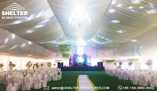 25 by 50m wedding marquee with glass wall - 1000 seater tent used as wedding banquet hall (2)