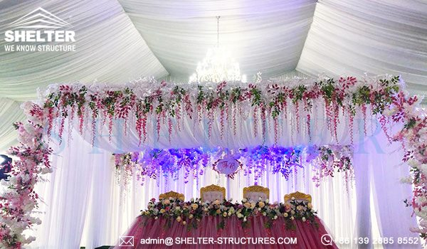 25 by 50m wedding marquee with glass wall - 1000 seater tent used as wedding banquet hall (8)