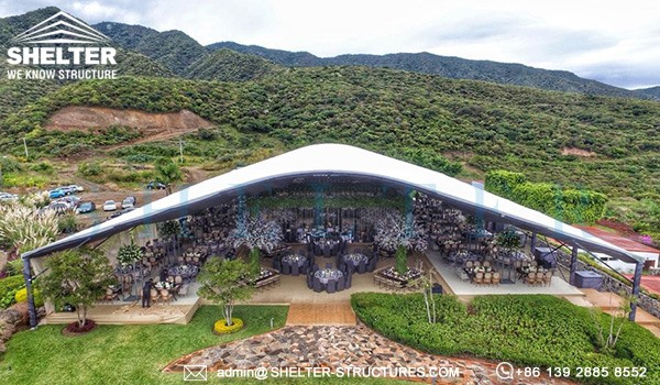 30 x 40m Tent with Curved Roof - Arch Wedding Marquee sale in Mexico (1)