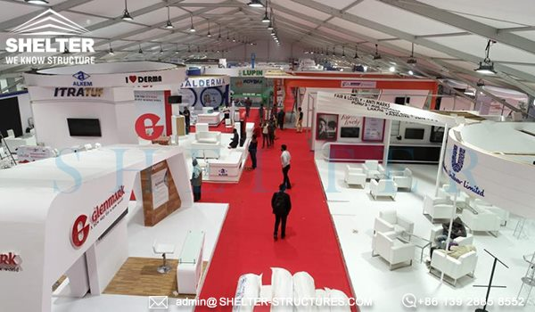 large exhibition hall for display hall Dermacon International 2019 India -5