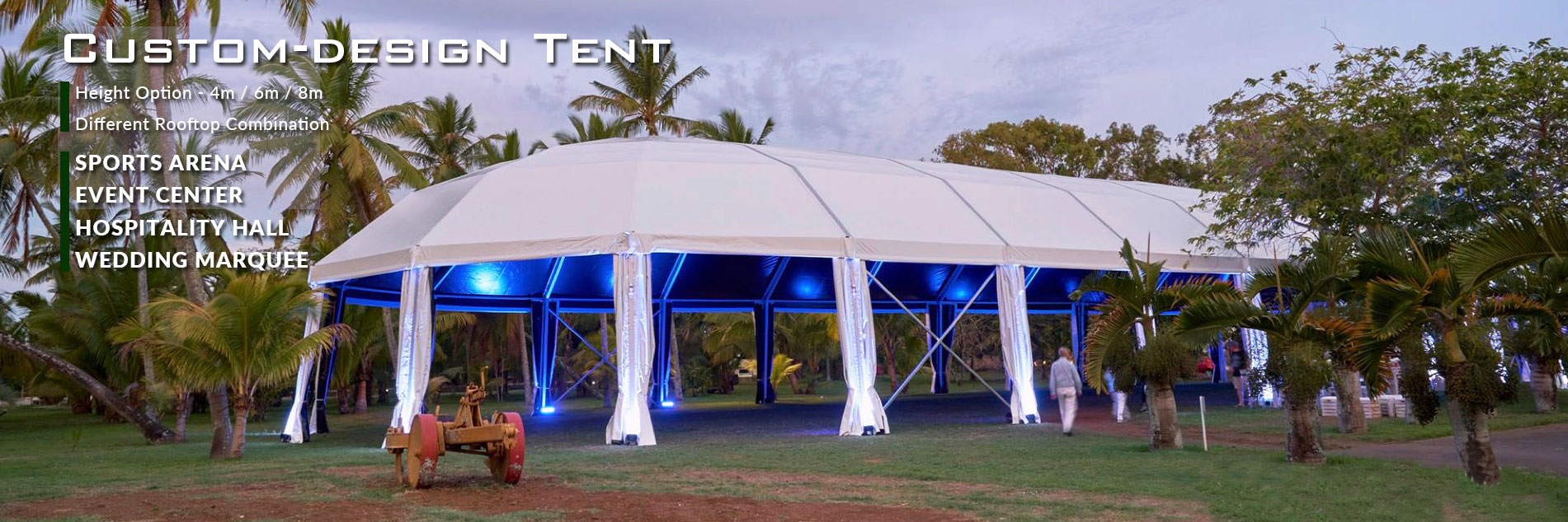 Event Structures-Party/Wedding Marquees-Clear span Tent