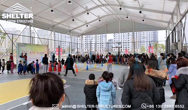 Shelter indoor sports arena in customized design - arch roof sports tent for sale - best basketball court supplier -2
