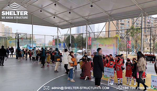 Shelter indoor sports arena in customized design - arch roof sports tent for sale - best basketball court supplier -8