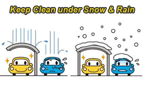 Keep clean under snow and rain day - Shelter Carport