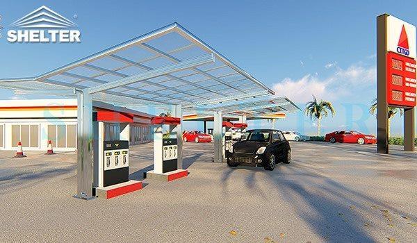 Shelter carport commercial public use -EV stand Toll Gate Cover-carport and patio cover