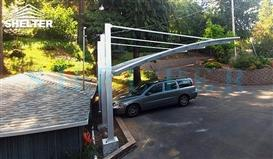 carport-on-sloped-driveway- carport and patio cover-Sunshield Shelter