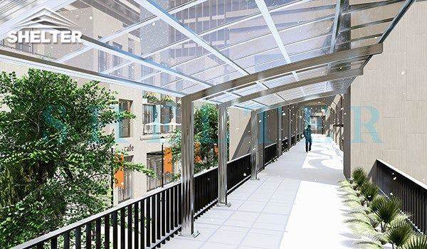 commercial public use-Walkway Shelter