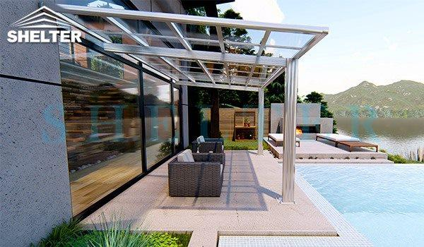 residential use - flat roof patio cover-shelter carport and patio cover