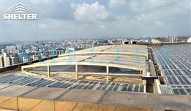 retractable-pool-enclosure-China- Rooftop Skylight Enclosures-Sunshield Shelter