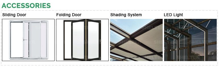 SHELTER sunroom accessories- door-shading system