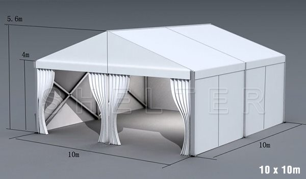 10 x 10m warehouse tent for medical supplies storage - emergency shelter for covid-19