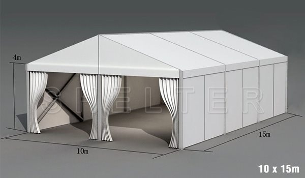 10 x 15m warehouse tent for medical supplies storage - emergency shelter for covid-19