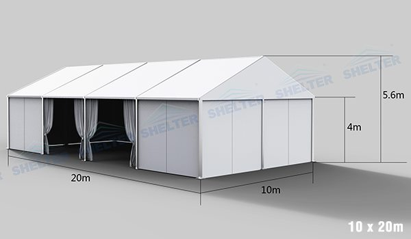 10 x 20m warehouse tent for medical supplies storage - emergency shelter for covid-19