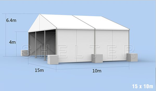 15 x 10m warehouse tent for medical supplies storage - emergency shelter for covid-19