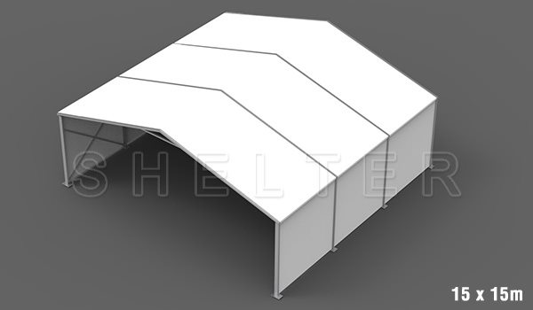 15 x 15m warehouse tent for medical supplies storage - emergency shelter for covid-19