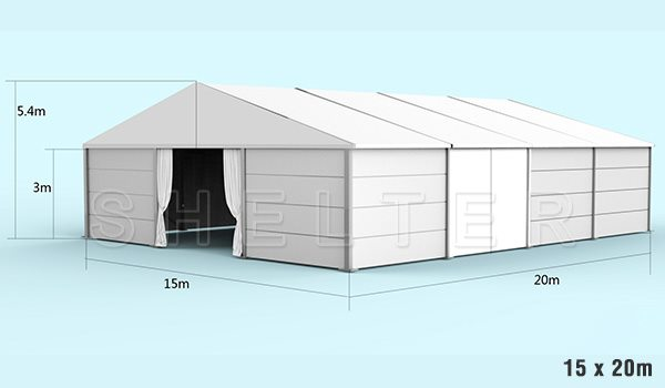15 x 20m warehouse tent for medical supplies storage - emergency shelter for covid-19