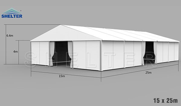 15 x 25m warehouse tent for medical supplies storage - emergency shelter for covid-19