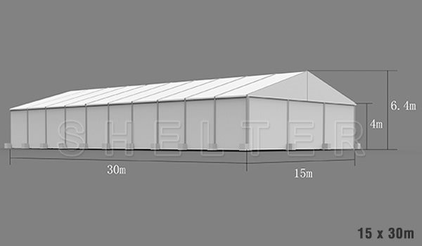 15 x 30m warehouse tent for medical supplies storage - emergency shelter for covid-19
