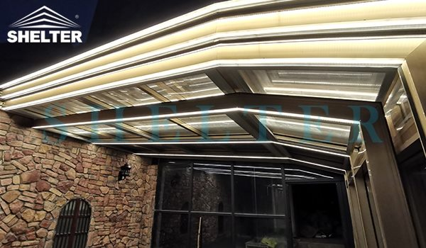 Embed lighting system-Sunroom with light- Shelter Patio Enclosures