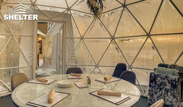 6m transparent dome for dinning in the winter (1)